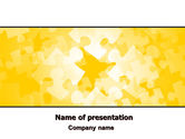 Abstract/Textures: Yellow Jigsaw Theme PowerPoint Template #06637