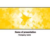 Abstract/Textures: Plantilla de PowerPoint - tema de rompecabezas amarillo #06637
