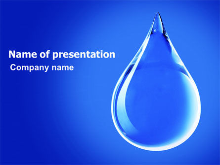 Nature & Environment: Drop Of Water PowerPoint Template #06638