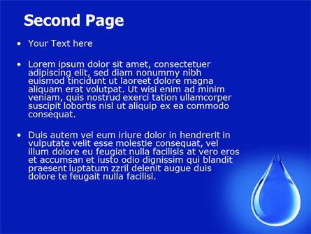 Drop Of Water PowerPoint Template, Slide 2, 06638, Nature & Environment — PoweredTemplate.com