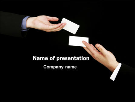 Business Cards Exchange PowerPoint Template