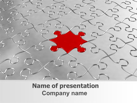 Puzzle Main Piece Powerpoint Template, Backgrounds | 06640