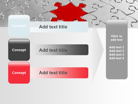 Puzzle Main Piece PowerPoint Template Slide 12