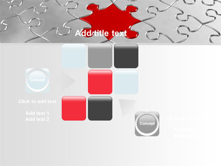 Puzzle Main Piece PowerPoint Template Slide 16