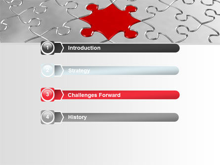 Puzzle Main Piece PowerPoint Template, Slide 3, 06640, Consulting — PoweredTemplate.com