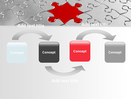 Puzzle Main Piece PowerPoint Template, Slide 4, 06640, Consulting — PoweredTemplate.com