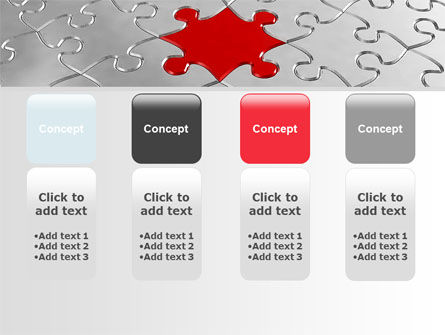 Puzzle Main Piece PowerPoint Template Slide 5