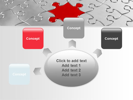 Puzzle Main Piece PowerPoint Template Slide 7