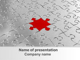 Consulting: Puzzle Main Piece PowerPoint Template #06640