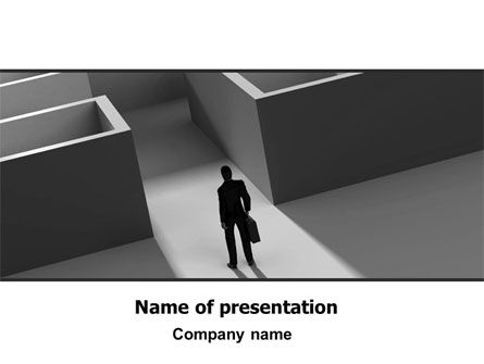 Business: Labyrinth Entrance PowerPoint Template #06641