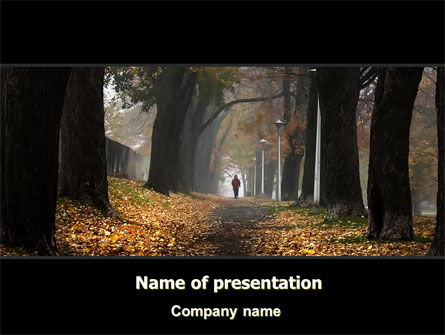 Nature & Environment: Autumn Jogging PowerPoint Template #06642