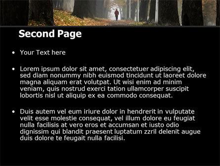 Autumn Jogging PowerPoint Template, Slide 2, 06642, Nature & Environment — PoweredTemplate.com