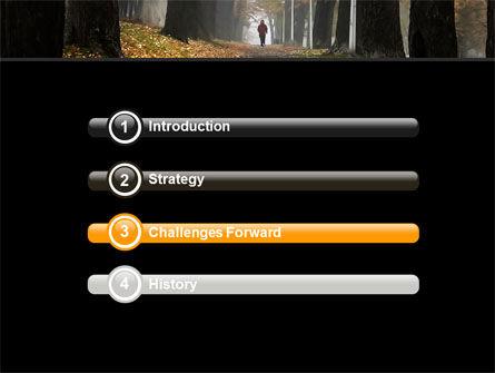 Autumn Jogging PowerPoint Template, Slide 3, 06642, Nature & Environment — PoweredTemplate.com