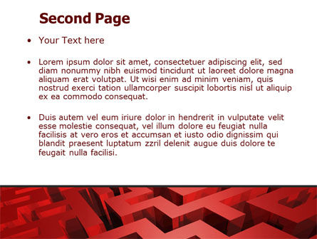 Red Maze PowerPoint Template Slide 2