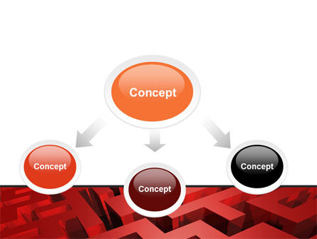 Red Maze PowerPoint Template Slide 4