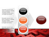 Red Maze PowerPoint Template#11