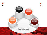 Red Maze PowerPoint Template#12