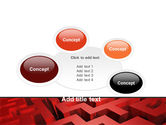 Red Maze PowerPoint Template#16