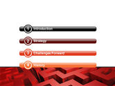 Red Maze PowerPoint Template#3