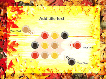 Autumn Leaves Frame PowerPoint Template Slide 10