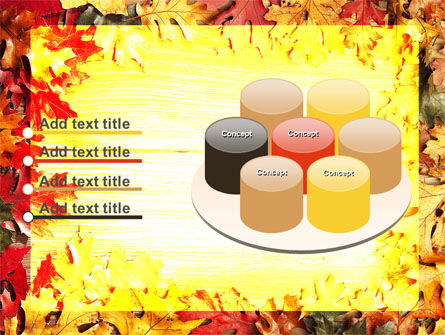 Autumn Leaves Frame PowerPoint Template Slide 12