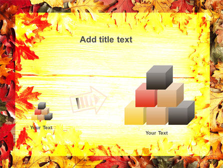 Autumn Leaves Frame PowerPoint Template Slide 13