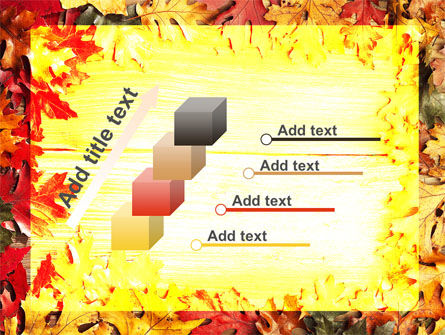 Autumn Leaves Frame PowerPoint Template Slide 14