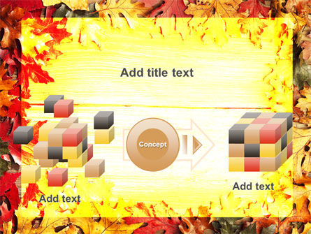 Autumn Leaves Frame PowerPoint Template Slide 17