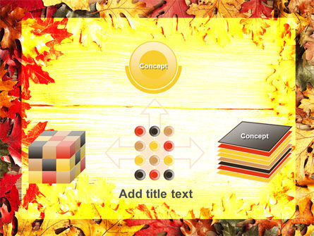 Autumn Leaves Frame PowerPoint Template Slide 19