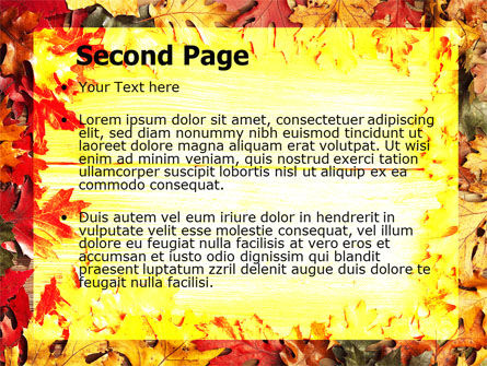 Autumn Leaves Frame PowerPoint Template Slide 2