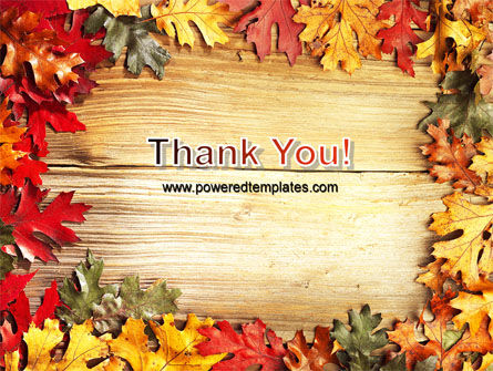 Autumn Leaves Frame PowerPoint Template Slide 20