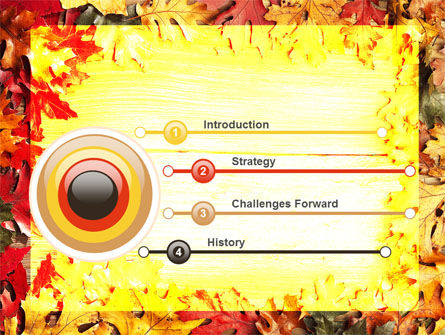 Autumn Leaves Frame PowerPoint Template Slide 3