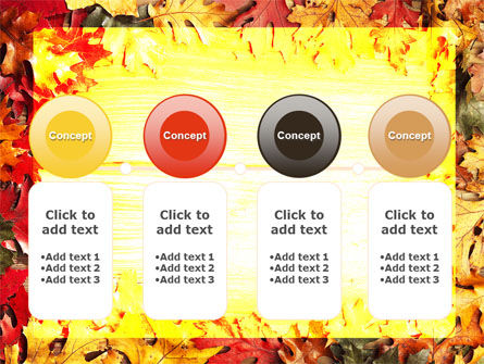Autumn Leaves Frame PowerPoint Template Slide 5