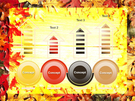 Autumn Leaves Frame PowerPoint Template Slide 7