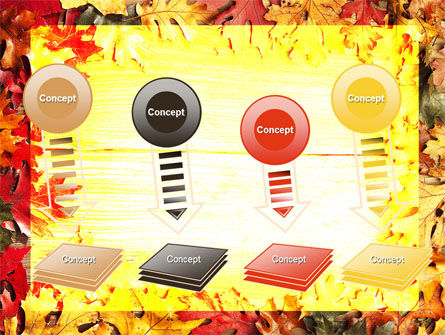 Autumn Leaves Frame PowerPoint Template Slide 8
