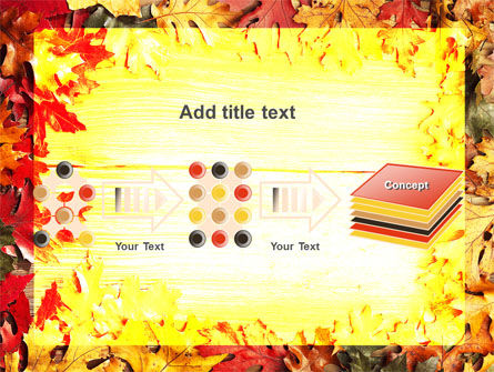 Autumn Leaves Frame PowerPoint Template Slide 9