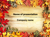 Holiday/Special Occasion: Autumn Leaves Frame PowerPoint Template #06644