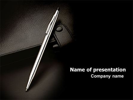 Business: Pen And Diary PowerPoint Template #06645