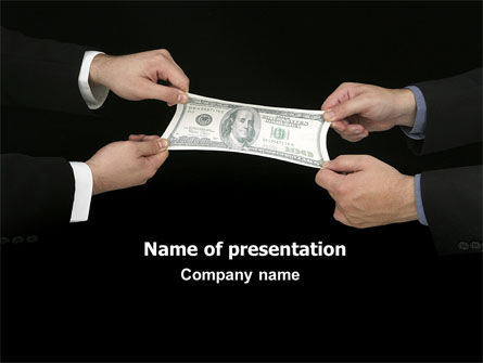 Business: Stretching a Hundred Dollars PowerPoint Template #06646