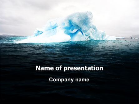 Blue Iceberg PowerPoint Template, 06647, Nature & Environment — PoweredTemplate.com