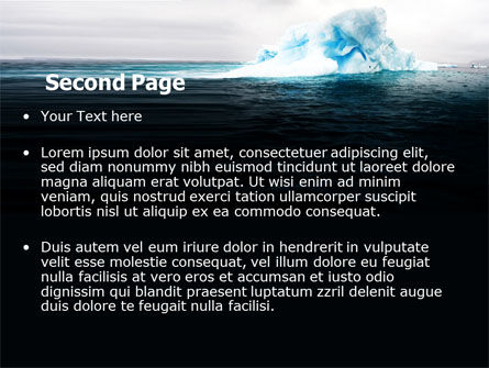 Blue Iceberg PowerPoint Template, Slide 2, 06647, Nature & Environment — PoweredTemplate.com