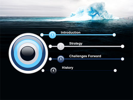 Blue Iceberg PowerPoint Template, Slide 3, 06647, Nature & Environment — PoweredTemplate.com