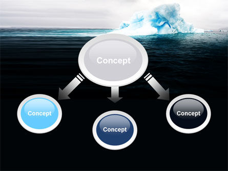 Blue Iceberg PowerPoint Template, Slide 4, 06647, Nature & Environment — PoweredTemplate.com