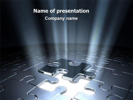 Puzzle Piece In A Puzzle PowerPoint Template