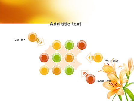 Yellow Lily PowerPoint Template Slide 10