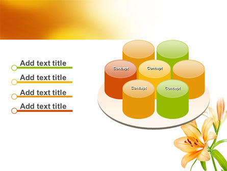 Yellow Lily PowerPoint Template Slide 12
