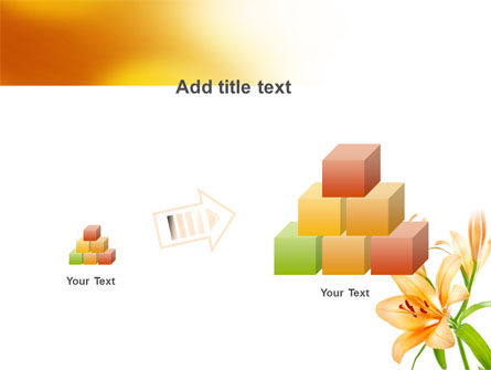 Yellow Lily PowerPoint Template Slide 13