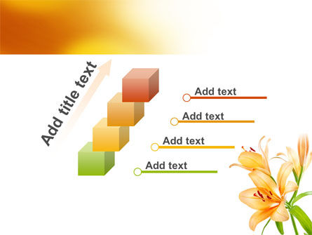 Yellow Lily PowerPoint Template Slide 14
