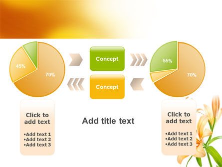Yellow Lily PowerPoint Template Slide 16