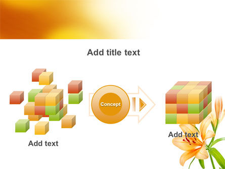 Yellow Lily PowerPoint Template Slide 17